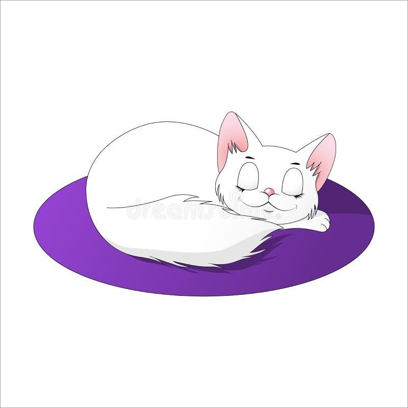 Sova katt vektor illustrationer