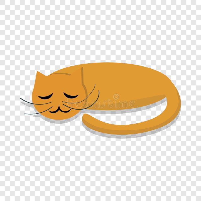 Sova kattsymbolen, tecknad filmstil vektor illustrationer