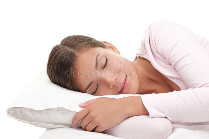 sova kvinna royaltyfri fotografi