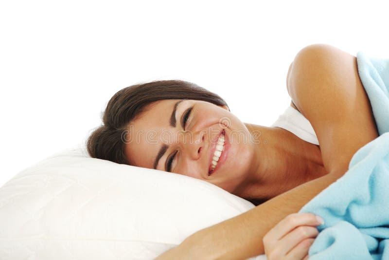 sova kvinna royaltyfri foto