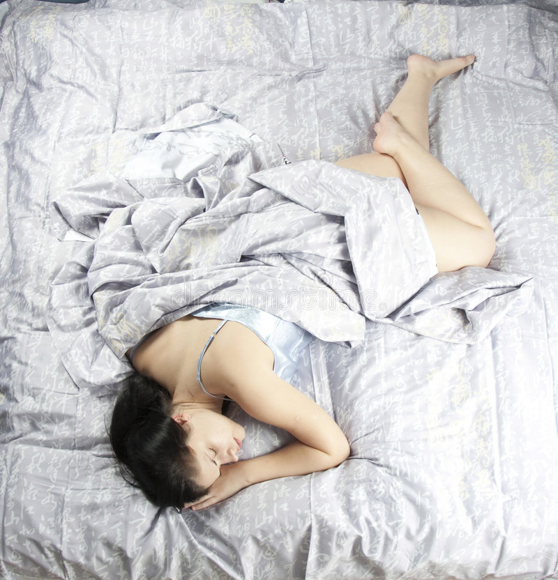 sova kvinna 4 royaltyfri foto