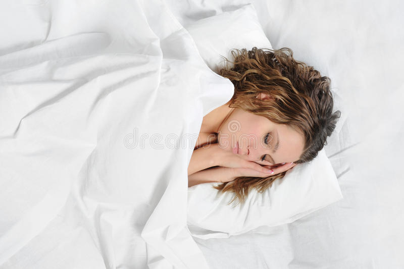 sova kvinna för underlag royaltyfri bild