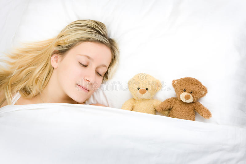 sova nalletonåring royaltyfri fotografi