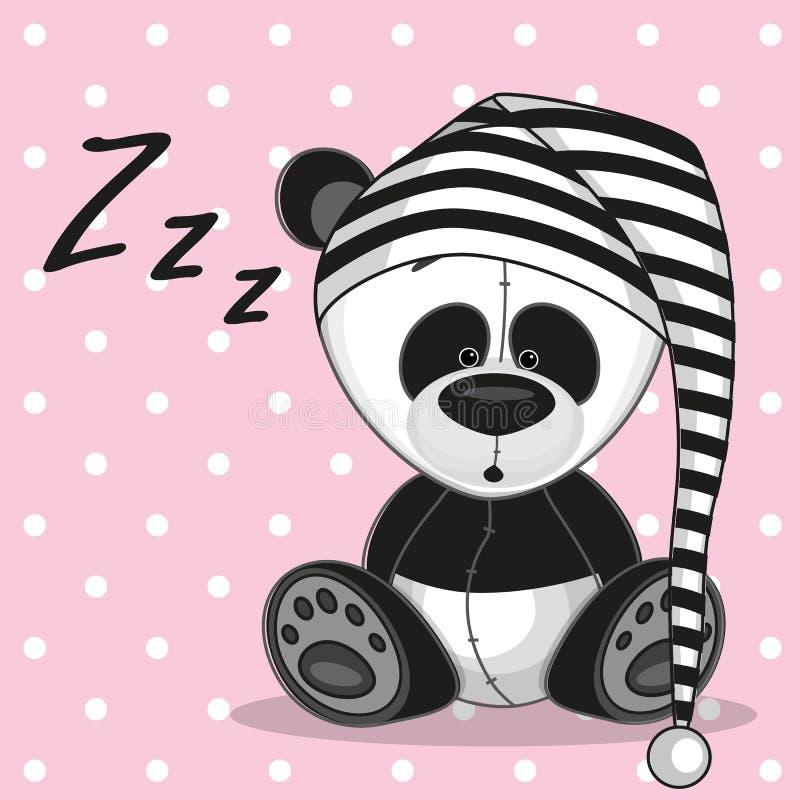 Sova pandan stock illustrationer