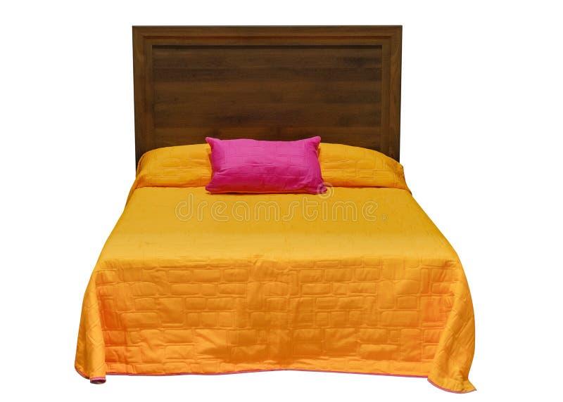 Sova säng som isoleras på vit bakgrund royaltyfri bild