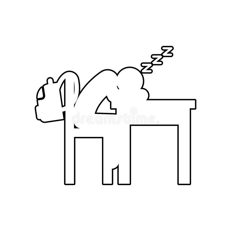 Sova symbolen Beståndsdel av baksida till skola för mobilt begrepp och rengöringsdukappssymbol Översikt tunn linje symbol för web stock illustrationer