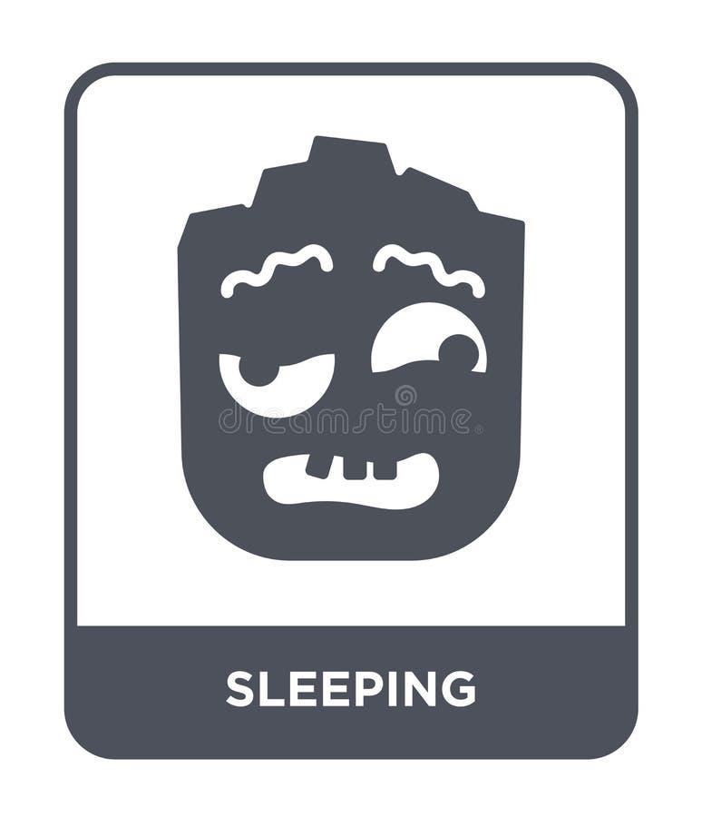 sova symbolen i moderiktig designstil Sova symbolen som isoleras på vit bakgrund sova den enkla och moderna lägenheten för vektor vektor illustrationer