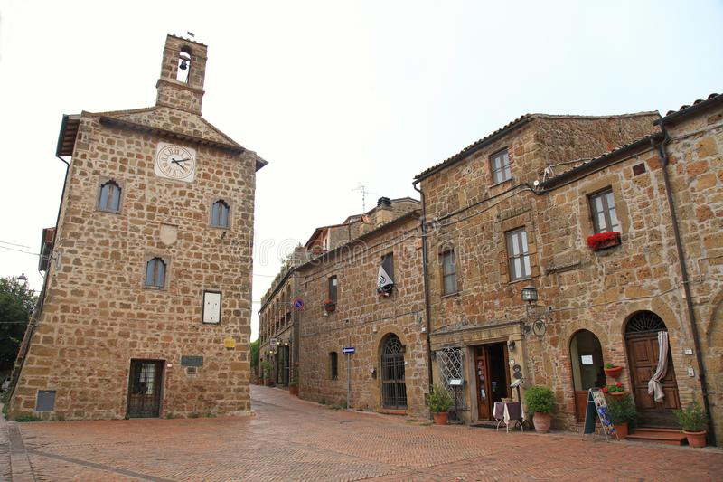 Sovana, a medieval village in Grosseto province, Tuscany, Italy. royalty free stock image