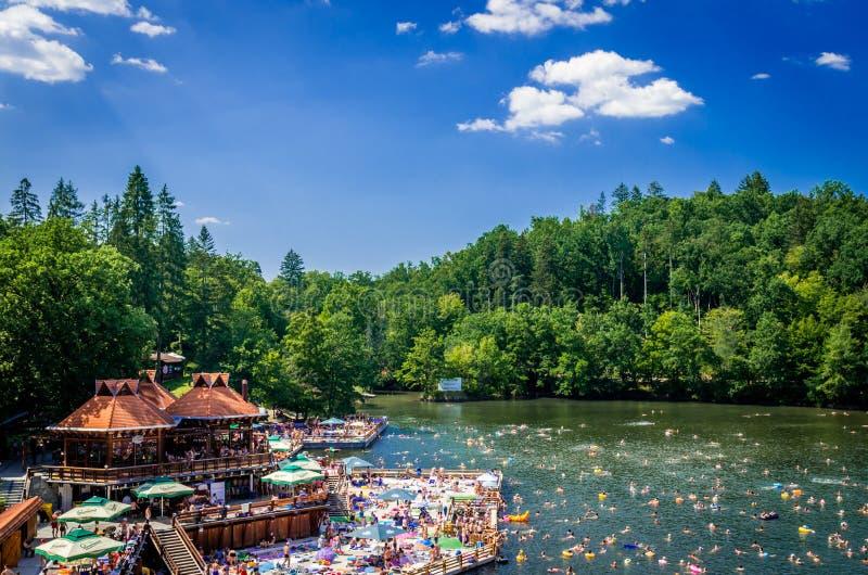 SOVATA, URSU LAKE, ROMANIA - AUGUST 8, 2015: stock images