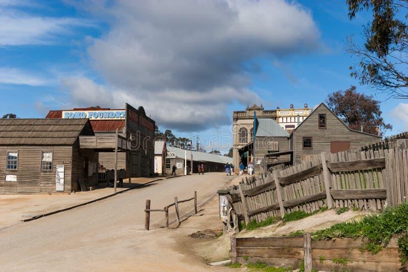 Sovereign Hill, Ballarat, Australia. Sovereign Hill is an open air museum in Golden Point, a suburb of Ballarat, Victoria, Australia. Sovereign Hill depicts stock photography