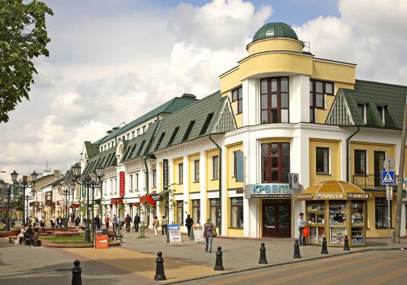 Sovetskaya street in Brest. Brest stock photography