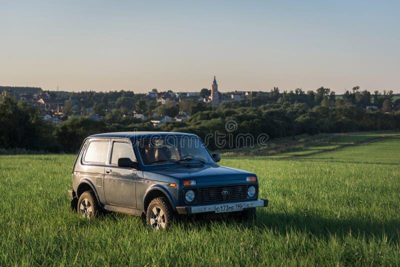 Soviétique et Russe SUV Lada Niva images stock
