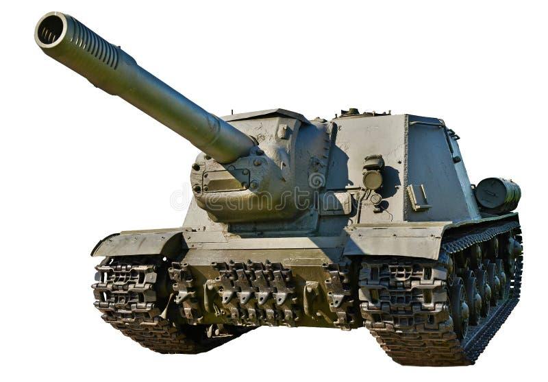 Soviet anti tank self-propelled unit SU-152. In museum stock photo