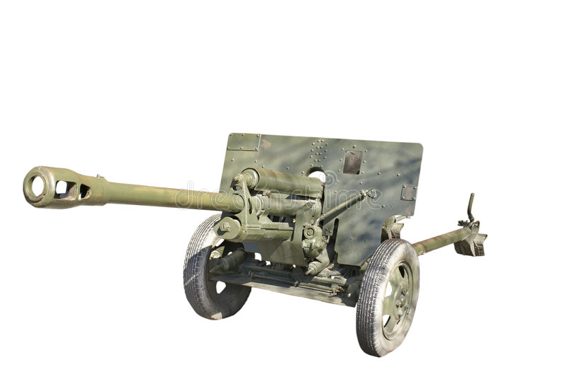 Download Soviet Antitank Cannon From WWII Stock Image - Image: 4335939