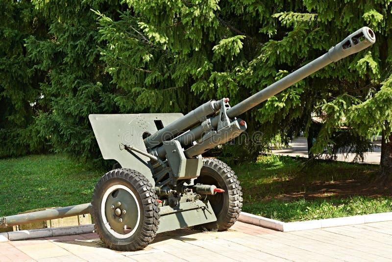 Soviet arma divisional M1942 (ZiS-3) de 76 milímetros fotografía de archivo libre de regalías