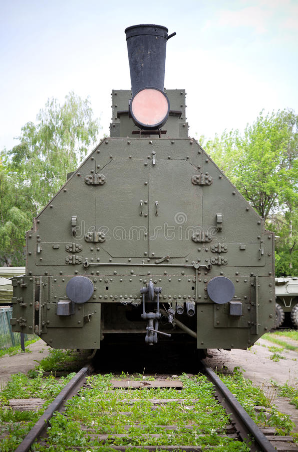 Soviet armored train from WWII period royalty free stock photos