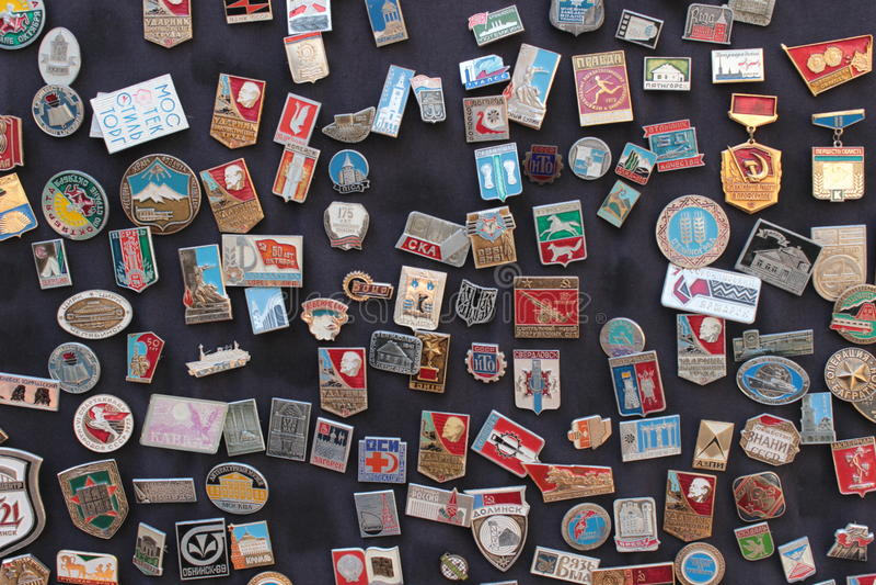 Soviet badges royalty free stock photography