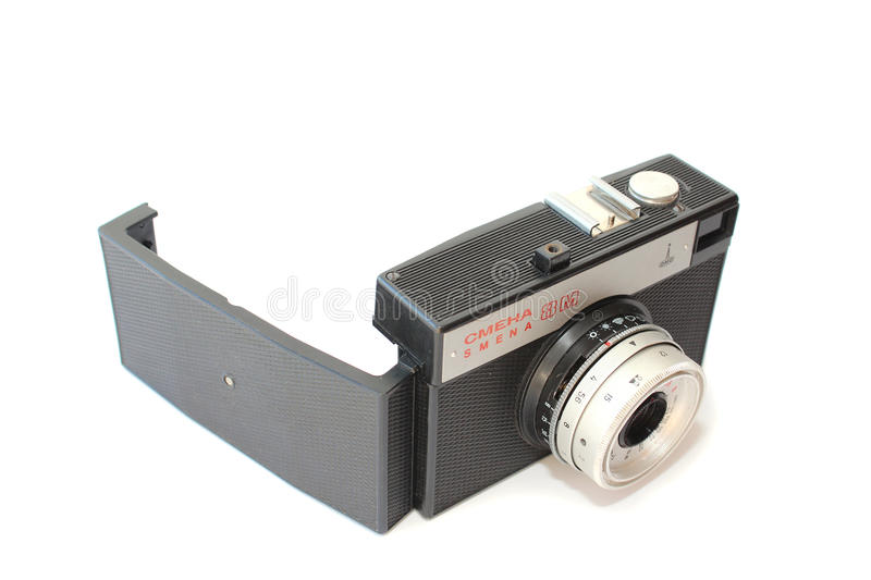 Soviet camera Smena 8M to open the back cover royalty free stock image