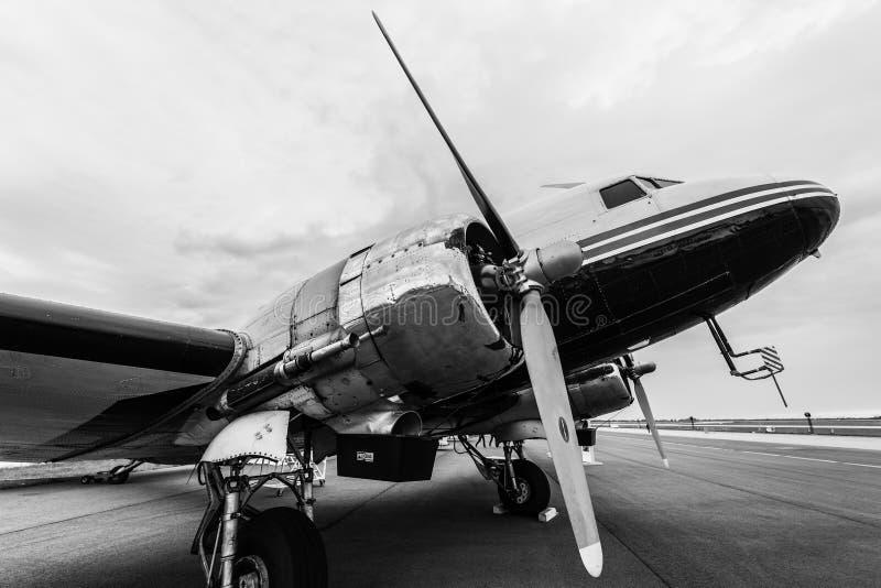 Soviet cargo or passenger aircraft and light bomber Lisunov Li-2. royalty free stock image