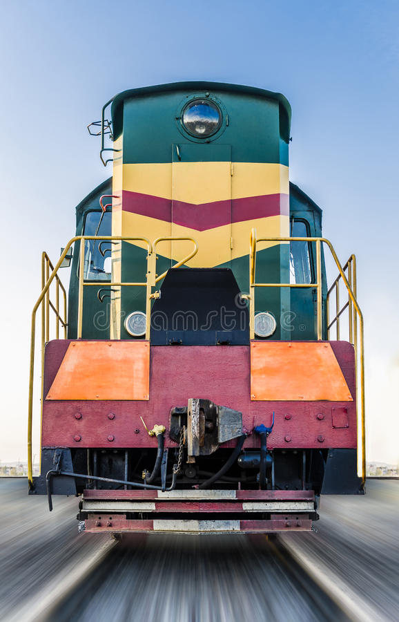 Old diesel locomotive royalty free stock photos