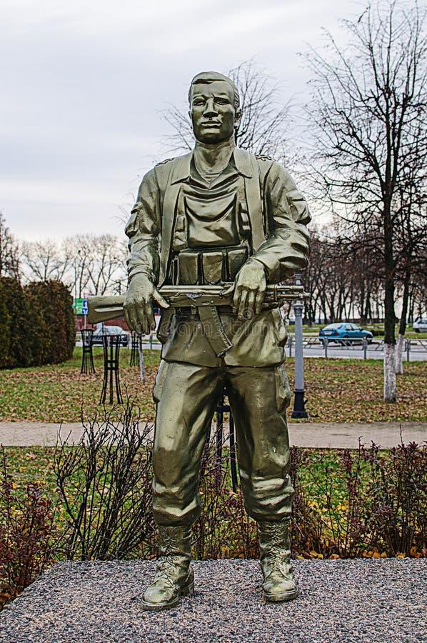 Soviet era WW2 memorial in Belarus stock image