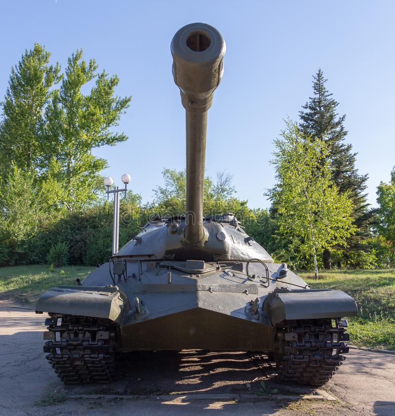 Soviet heavy armored tank with a cannon royalty free stock photography
