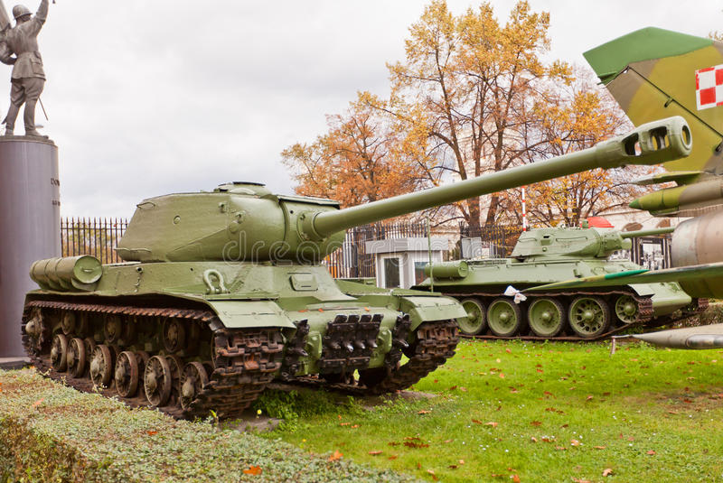Soviet heavy tank IS-2 (Joseph Stalin). In Museum of Polish Army in Warsaw, Poland. Used by Red Army in World War II royalty free stock photos