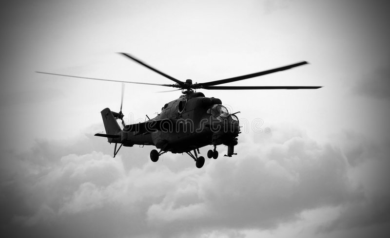 Soviet helicopter Mi-24 Hind royalty free stock image