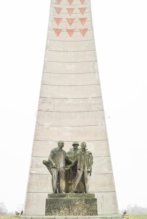 SACHSENHAUSEN, GERMANY, DECEMBER 9, 2009: The Soviet Liberation Memorial monument at KZ Sachsenhausen, Concentration Camp. stock image