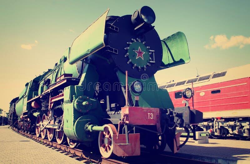 Download Soviet locomotive stock image. Image of retro, locomotive - 37490563