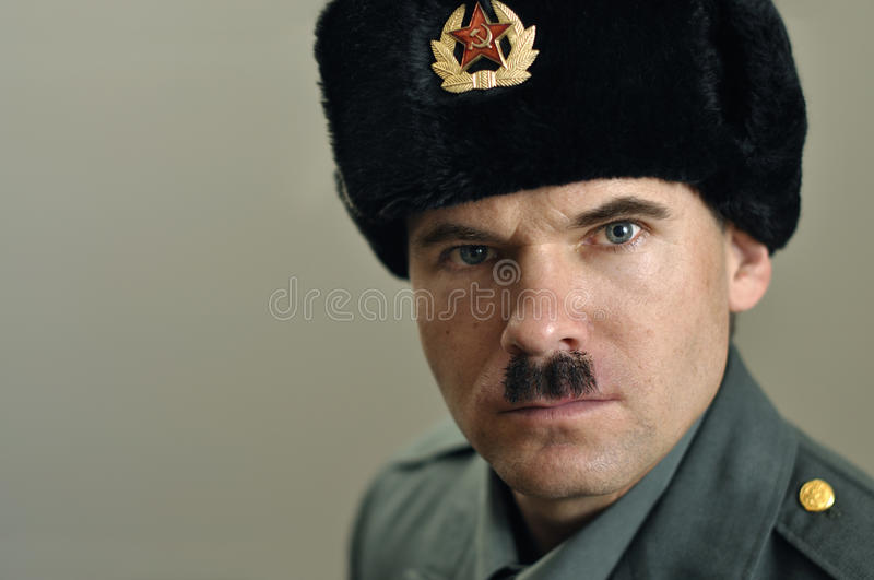 Download Soviet military officer stock image. Image of armed, shot - 22430545