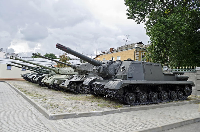 Download Soviet military tanks stock image. Image of wheel, camouflage - 30491955