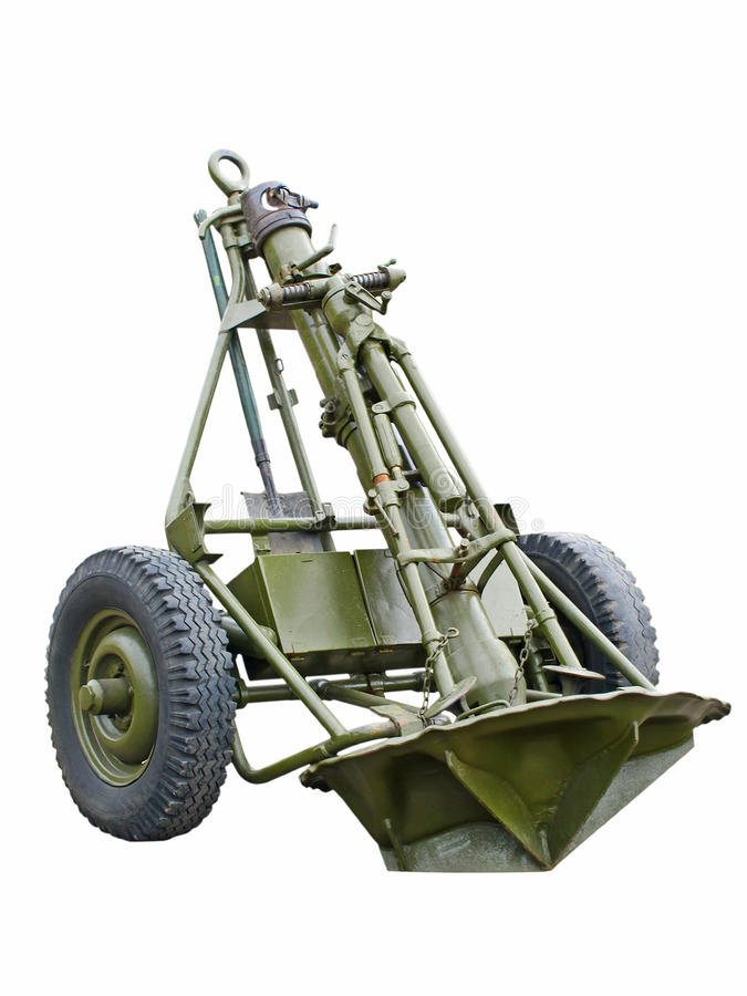 Russian 120mm Mortar : Soviet mm mortar from the ww stock photo image of
