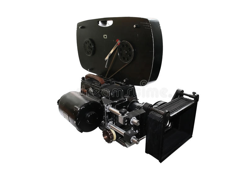 The Soviet movie camera stock image