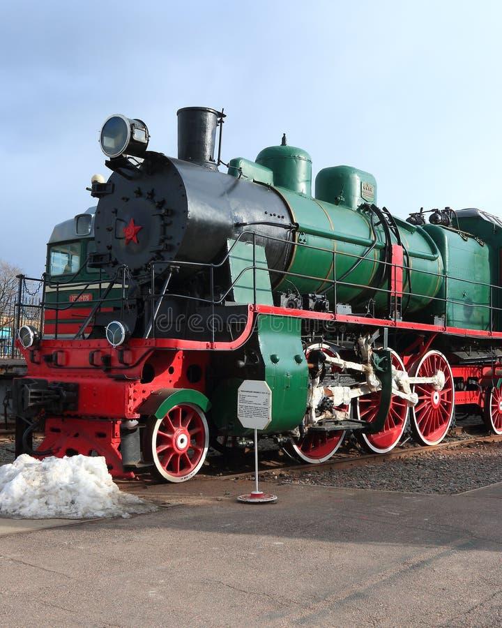 Soviet passenger steam locomotive royalty free stock images