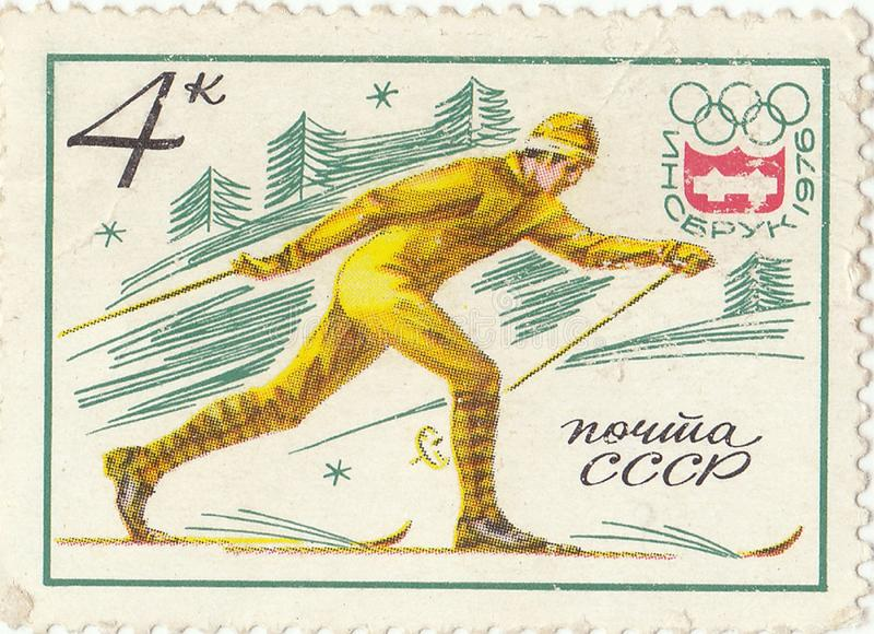 Soviet postage stamp stock images