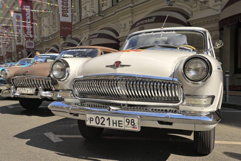 Soviet retro car Volga GAZ-21 stock photos