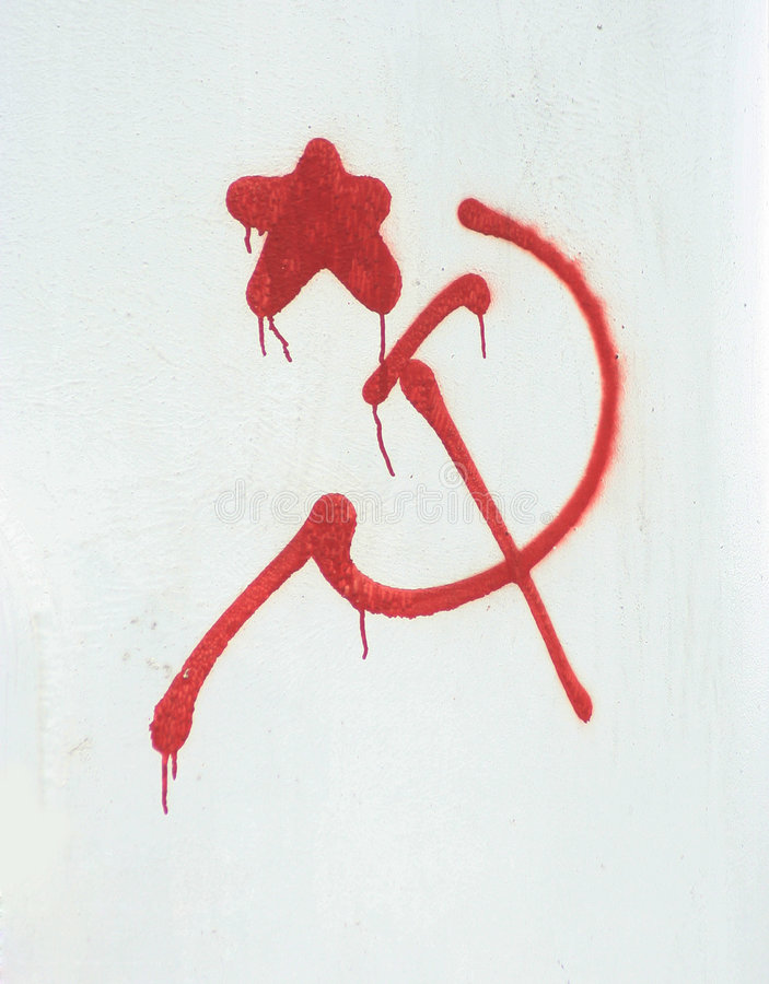 SOVIET ROSSO immagine stock