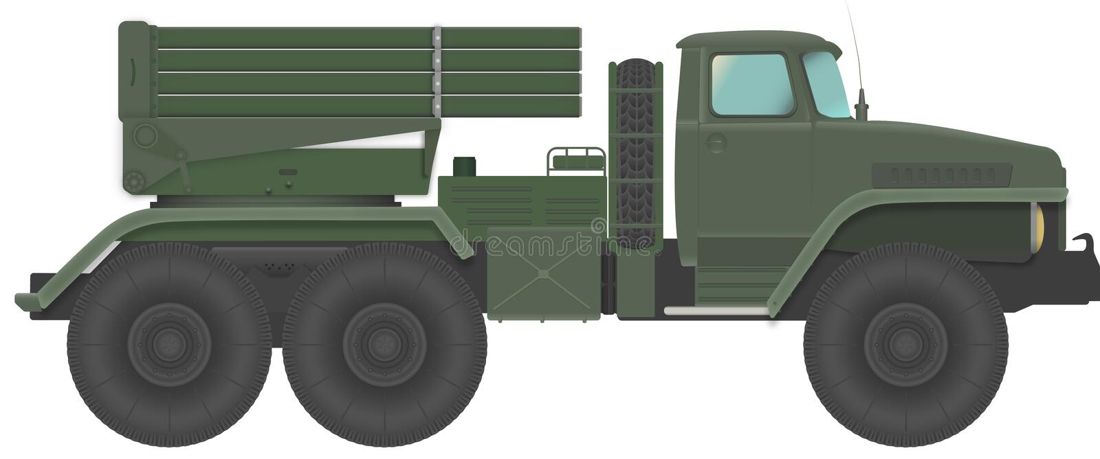 Soviet russo Rocket Launcher Grad royalty illustrazione gratis
