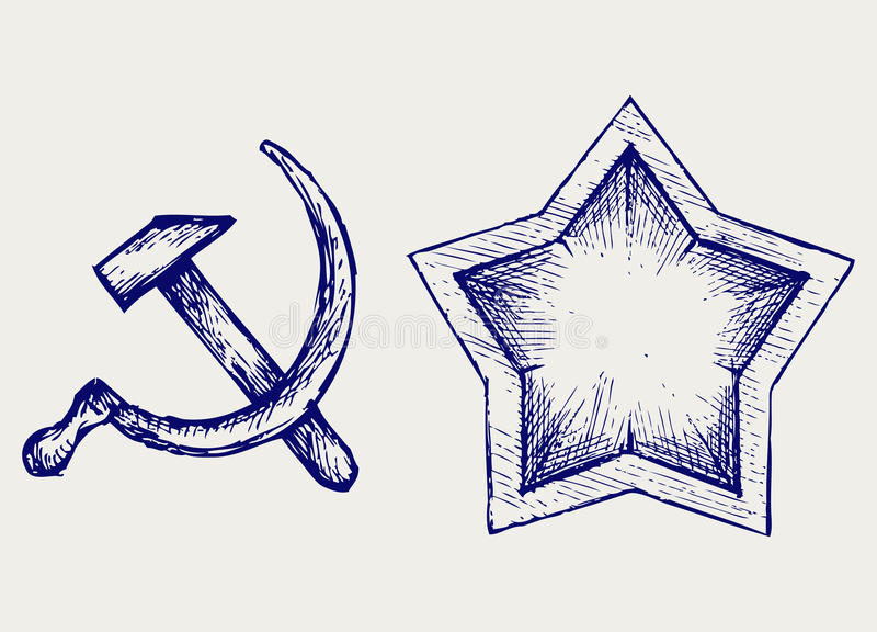 Download Soviet star icon stock vector. Image of hammer, freehand - 29506526