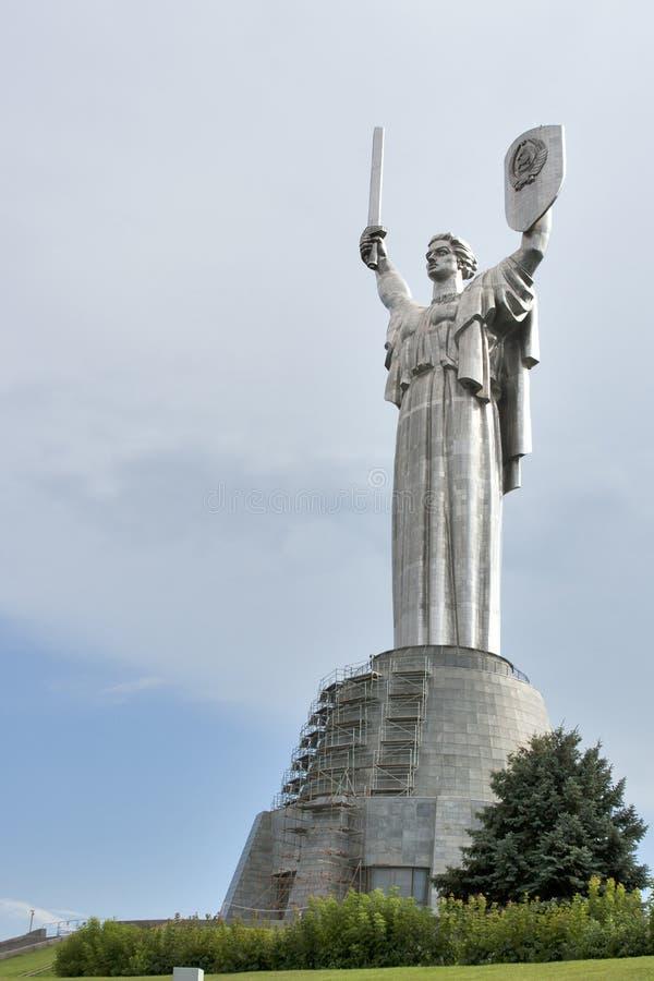 Soviet symbol in Kiev royalty free stock photo