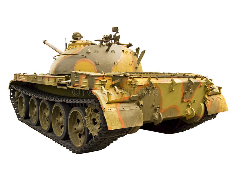 Download Soviet tank, back view stock photo. Image of armoured - 18580374
