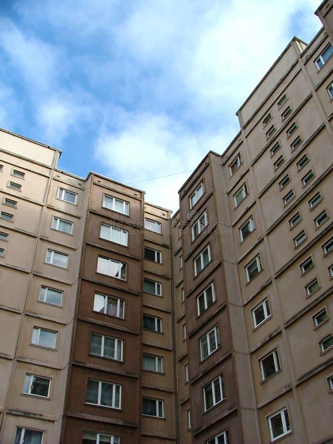Soviet time built suburb house royalty free stock photos