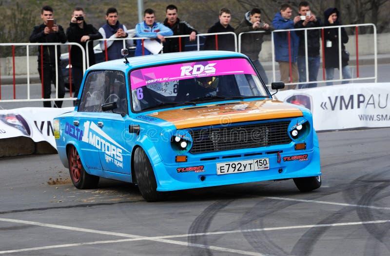 Soviet tuning car VAZ 2101 royalty free stock images