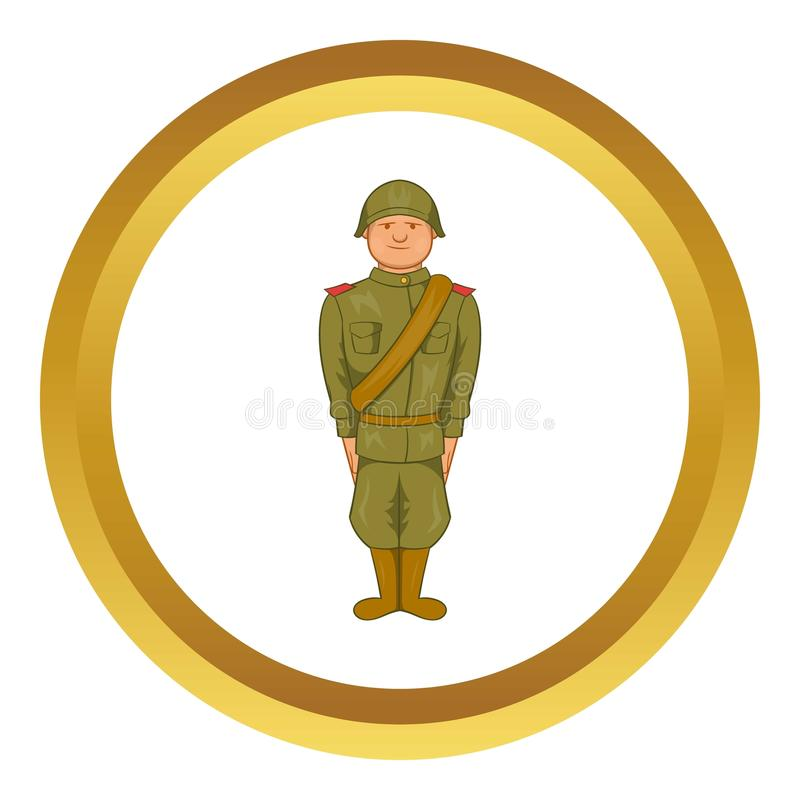 Soviet uniform of World War II vector icon royalty free illustration