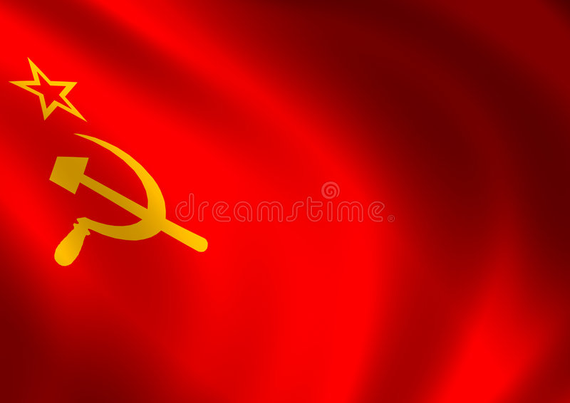 Download Soviet union flag stock illustration. Image of ripple - 1104563