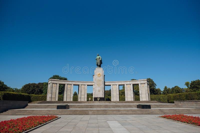 Soviet War Memorial Tiergarten stock image