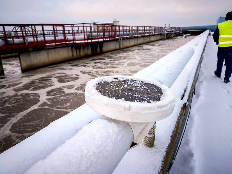Soviet water treatment plant stock image
