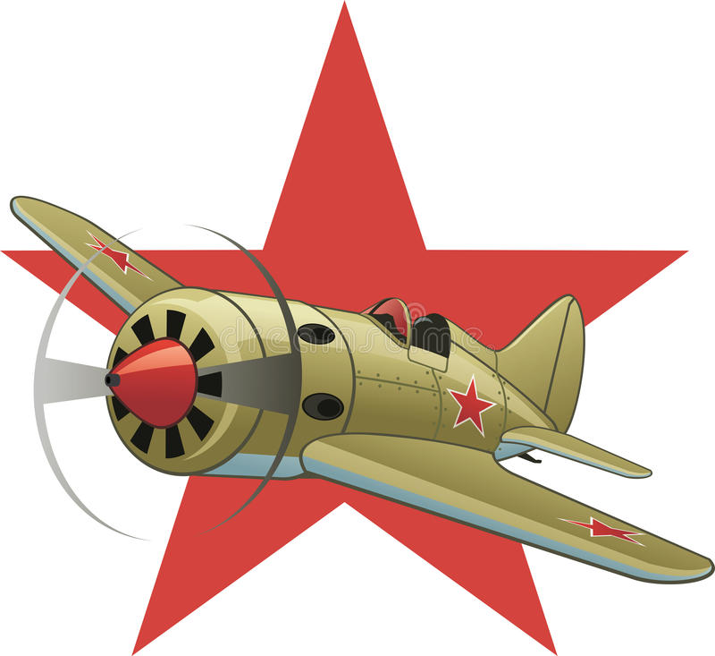 Soviet WW2 airplane vector illustration