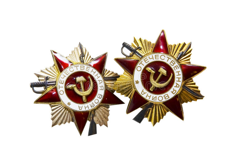 Soviet WWII War Medals royalty free stock photos